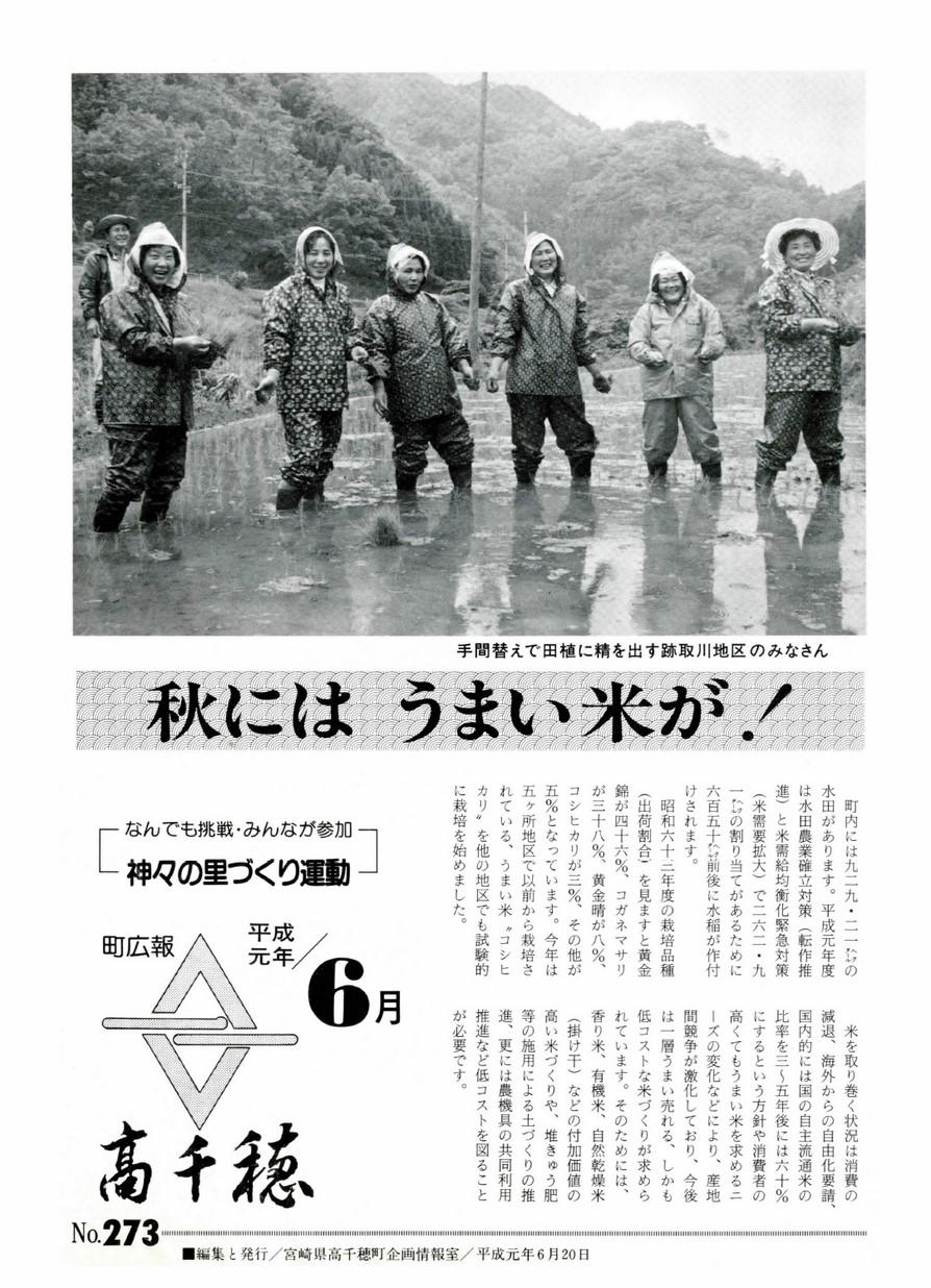 町広報たかちほ No.273 1989年6月号の表紙画像
