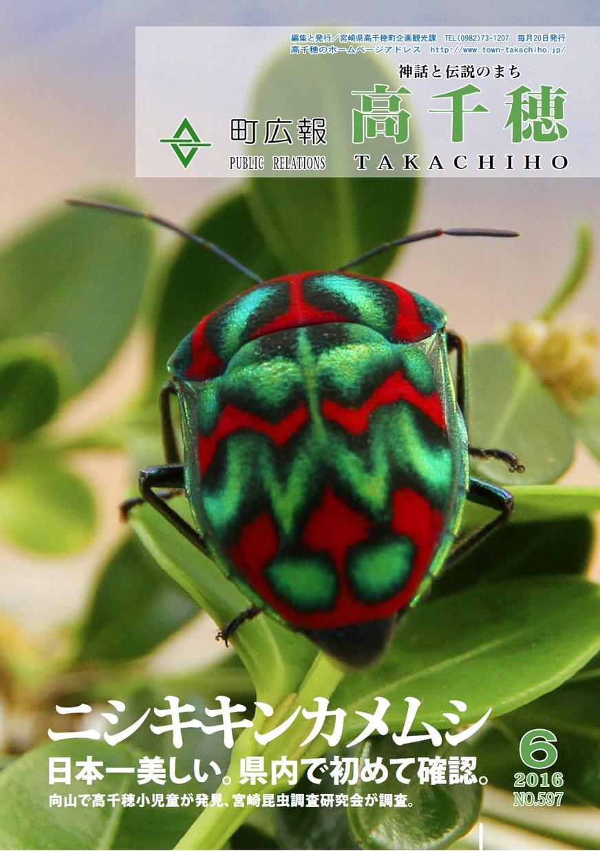 町広報たかちほ No.597 2016年6月号の表紙画像